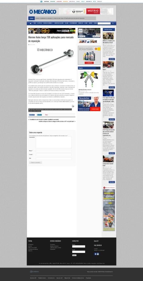 Monroe Axios lança 158 aplicações para mercado de reposição