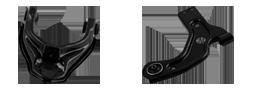 Liga a roda ao chassi do veículo e permite movimentos verticais da suspensão, suportando as cargas laterais durante a rodagem.