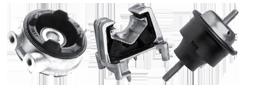 Pontos de apoio e fixação do motor, câmbio e chassi, os coxins absorvem as vibrações dos conjuntos onde estão montados, aumentando a durabilidade dos outros componentes.